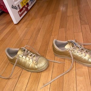 All gold adidas originals superstars